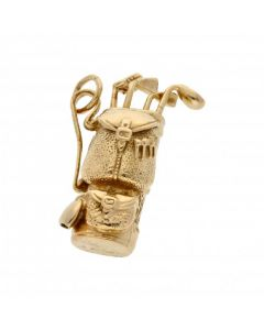 Pre-Owned 9ct Yellow Gold Golf Clubs & Bag Charm