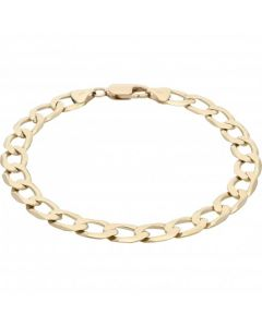 Pre-Owned 9ct Yellow Gold 9.3 Inch Curb Bracelet