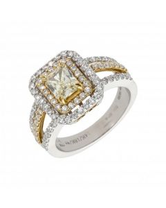 Pre-Owned 14ct Yellow & White Gold 1.04 Carat Diamond Ring