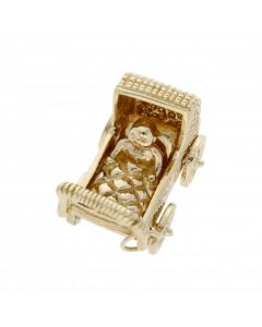 Pre-Owned 9ct Yellow Gold Baby Pram Charm