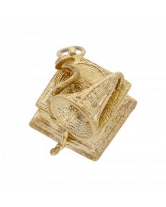 Pre-Owned 9ct Yellow Gold Gramophone Charm
