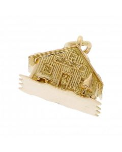 Pre-Owned 18ct Yellow Gold Log Cabin Charm