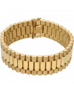 New 9ct Yellow Gold 8 Inch 20mm Width Rolex Style Bracelet 1.8oz