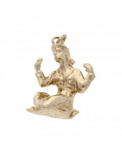 Pre-Owned 9ct Yellow Gold Virgo Horoscope Charm Pendant