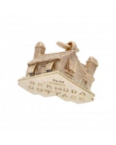 Pre-Owned 9ct Yellow Gold Bermuda Cottage Charm