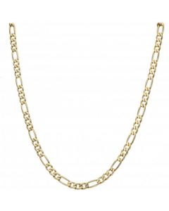 Pre-Owned 9ct Yellow Gold 20.5 Inch Figaro Chain Necklace