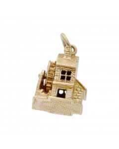 Pre-Owned 9ct Yellow Gold Water Mill Charm