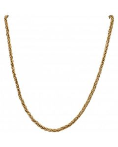 Pre-Owned 9ct Yellow Gold 17 Inch Fancy Weave Link Necklace