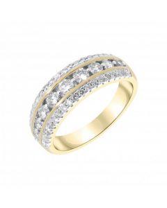 New 9ct Yellow Gold 0.99ct Diamond Eternity Ring