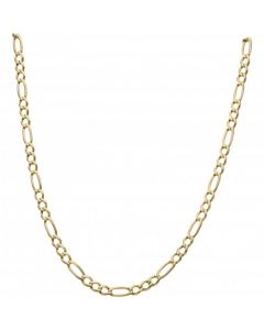 Pre-Owned 9ct Yellow Gold 21.5 Inch Figaro Chain Necklace