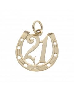 Pre-Owned 9ct Yellow Gold Age 21 Horseshoe Pendant