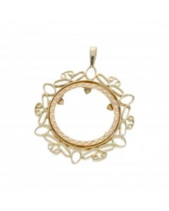 Pre-Owned 9ct Yellow Gold Full Sovereign Coin Pendant Mount
