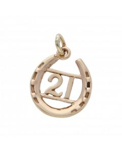 Pre-Owned 9ct Yellow Gold Age 21 Horseshoe Charm