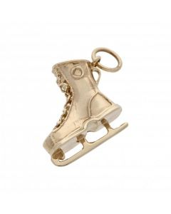 Pre-Owned 9ct Yellow Gold Ice Skate Charm