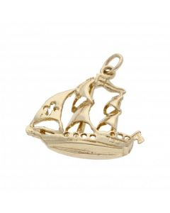 Pre-Owned 9ct Yellow Gold Boat Charm