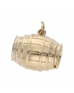 Pre-Owned 9ct Yellow Gold Hollow Barrel Keg Charm