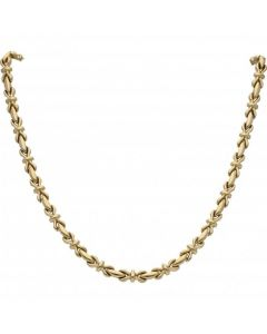Pre-Owned 9ct Yellow Gold 16 Inch Hollow Bow Necklet