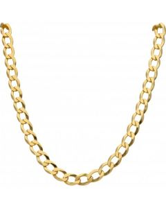 New 9ct Gold Solid 28 Inch Heavy Flat Curb Necklace 1.8oz