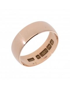 Pre-Owned 9ct Rose Gold 6mm Wedding Band Ring