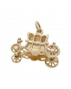 Pre-Owned 9ct Yellow Gold Carriage Charm