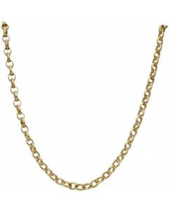 Pre-Owned 9ct Yellow Gold 16 Inch Oval Belcher Chain Necklace