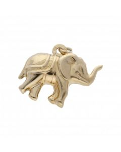 Pre-Owned 9ct Yellow Gold Hollow Elephant Charm