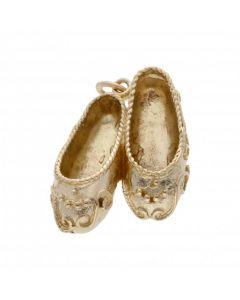 Pre-Owned 9ct Yellow Gold Genie Slippers Charm
