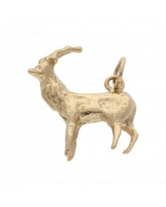 Pre-Owned 9ct Yellow Gold Deer Charm
