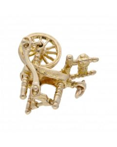 Pre-Owned 9ct Yellow Gold Spinning Wheel Charm