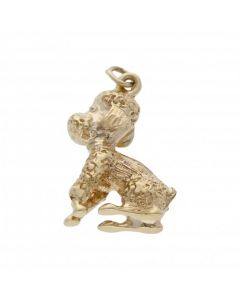 Pre-Owned 9ct Yellow Gold Poodle Dog Charm