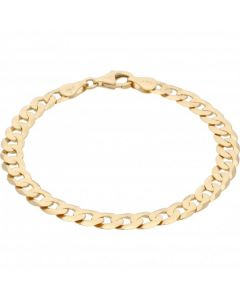 New 9ct Yellow Gold 7.5 Inch Solid Curb Bracelet