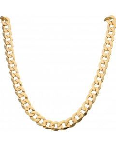 New 9ct Yellow Gold 26 Inch Flat Curb Link Chain Necklace 2.1oz