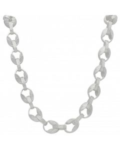 New Sterling Silver 28 Inch PatternTulip Chain Necklace 3.4oz