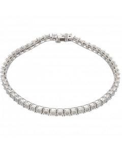 New 9ct White Gold 1.00ct Diamond Tennis Bracelet