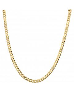 New 9ct Yellow Gold 20 Inch Solid Curb Link Chain Necklace 17g