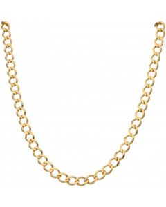 New 9ct Yellow Gold 24 Inch Solid Curb Link Chain Necklace 28.4g