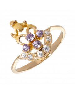 Pre-Owned High Carat Gemstone Set Dress Ring