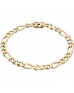Pre-Owned 9ct Yellow Gold 8.5 Inch Figaro Bracelet