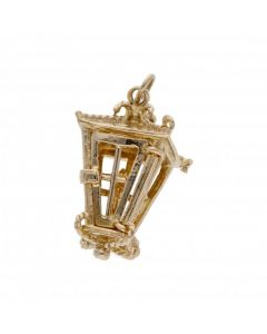 Pre-Owned 9ct Yellow Gold Candle Lantern Charm