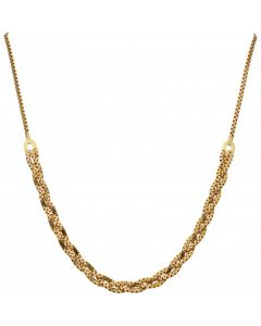 Pre-Owned 9ct Yellow Gold 16 Inch Fancy Link Woven Necklet