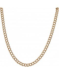 Pre-Owned 9ct Gold 20 Inch Hollow Double Curb Chain Necklace