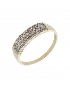 Pre-Owned 9ct Yellow Gold 0.33 Carat Diamond Set Band Ring