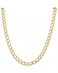 New 9ct Yellow Gold 20 Inch Open Curb Link Chain Necklace 27.7g