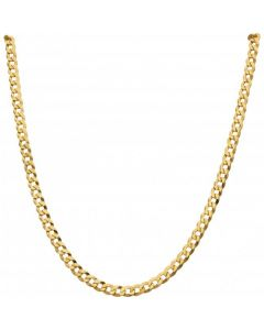 New 9ct Yellow Gold 26 Inch Solid Curb Link Chain Necklace 21g