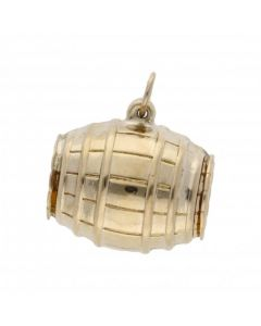 Pre-Owned 9ct Yellow Gold Hollow Barrel Charm