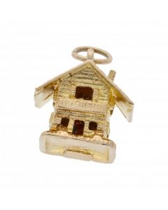 Pre-Owned 9ct Yellow Gold Opening Chalet Charm