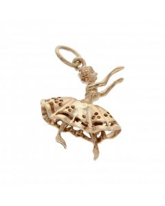 Pre-Owned 9ct Yellow Gold Ballerina Charm Pendant