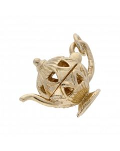 Pre-Owned 9ct Yellow Gold Opening Teapot Charm