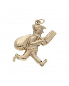 Pre-Owned 9ct Yellow Gold Hollow Postman Charm