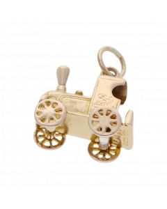 Pre-Owned 9ct Yellow Gold Train Charm